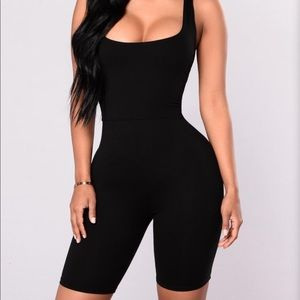 Fashion Nova Black Romper